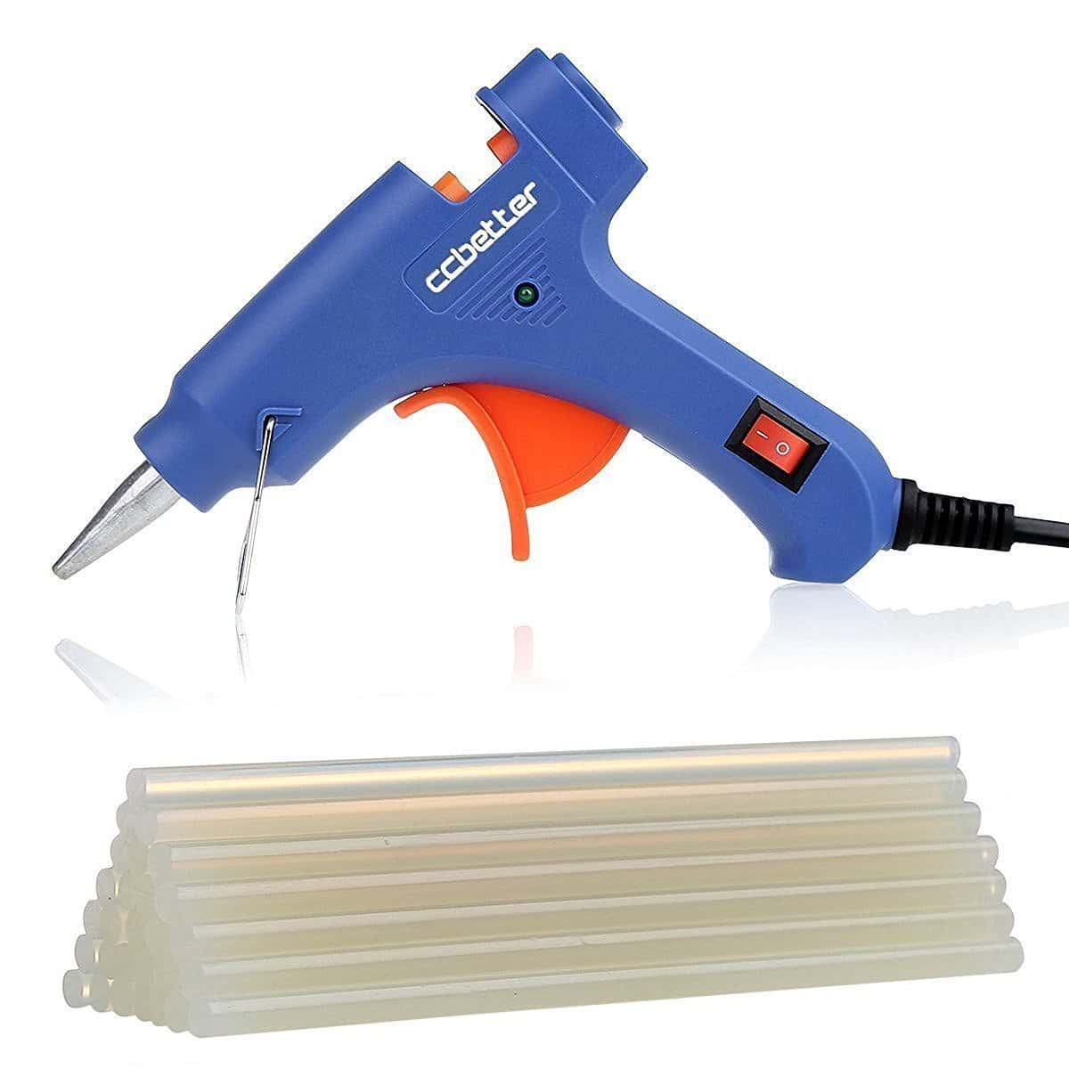 CCbetter Mini Hot Melt Glue Gun with 25pcs Glue Sticks High Temperature Melting Glue Gun Kit