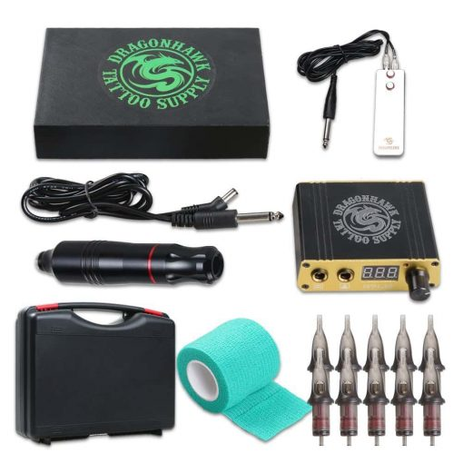 Dragonhawk Cartridge Tattoo Machine Kit Pen Rotary Tattoo Machine