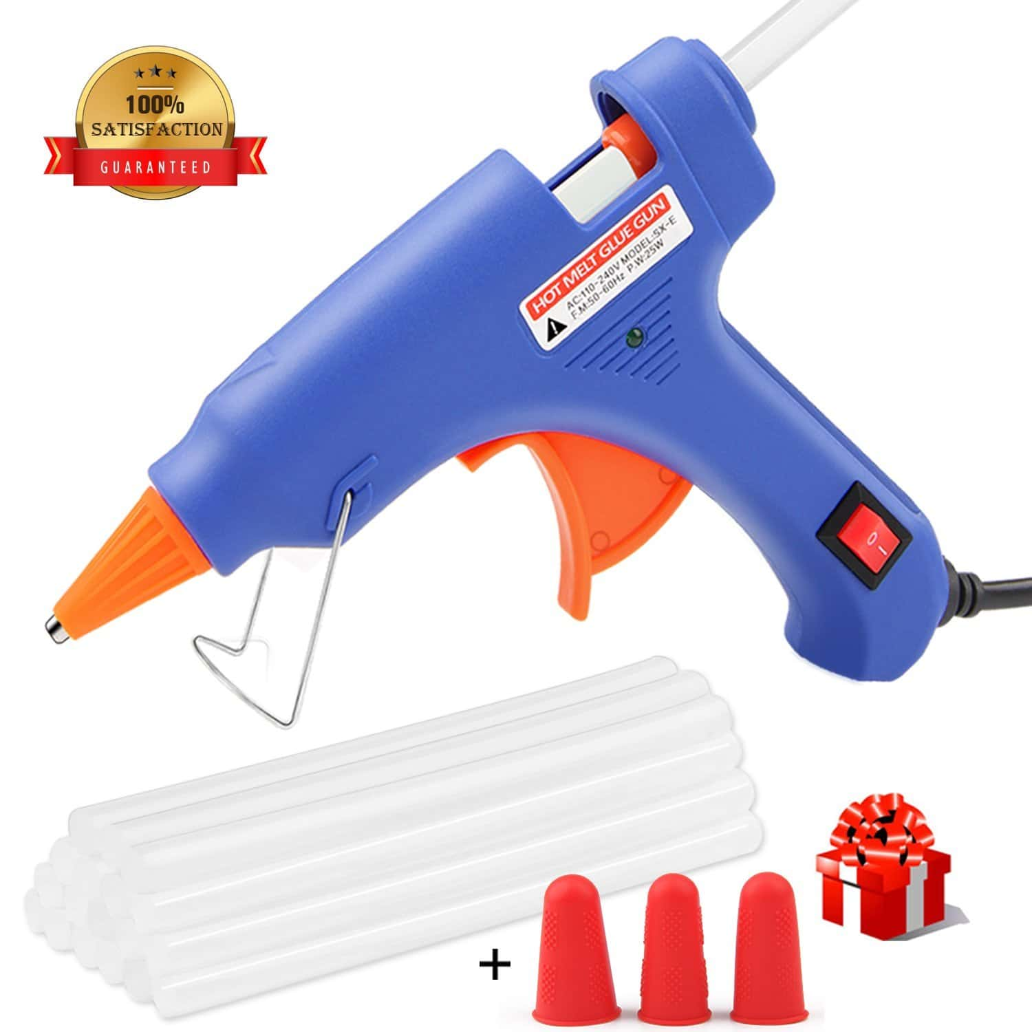 Hot Glue Gun, WEIO Rapid Heating Technology Hot Glue Gun with 25pcs Glue Sticks
