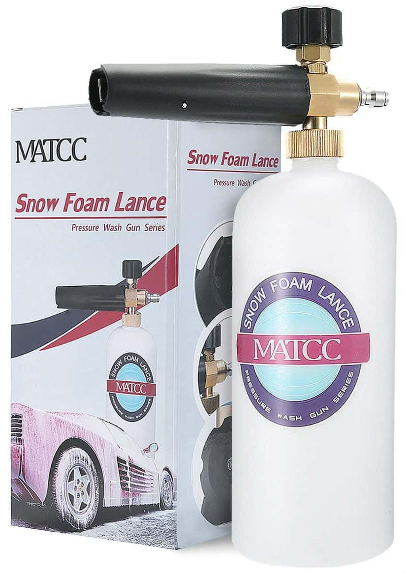 MATCC Adjustable Foam Cannon 1 Liter Bottle Snow Foam Lance