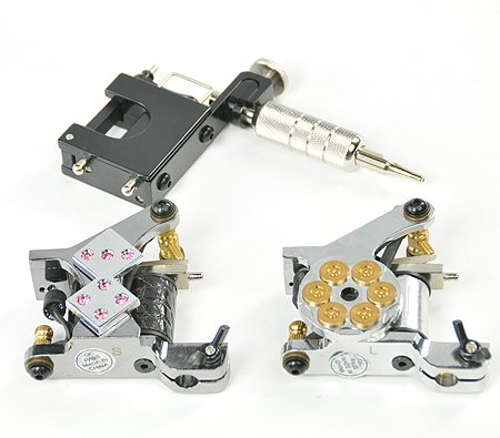 Rotary Tattoo Kit 3 Gun Tattoo Machoine Kit Complete with Tattoo Power Supply