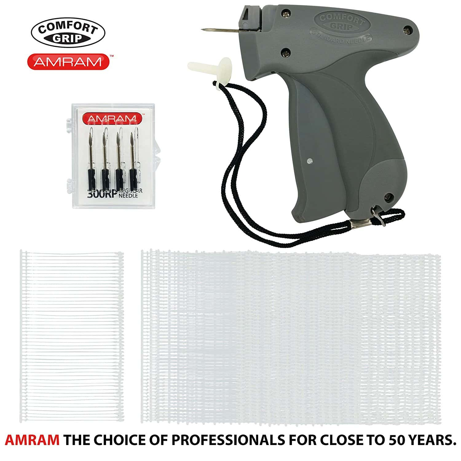 "AMRAM Comfort Grip STANDARD Tagging Gun Pro Kit. Includes 1250 2"" STANDARD Attachments"