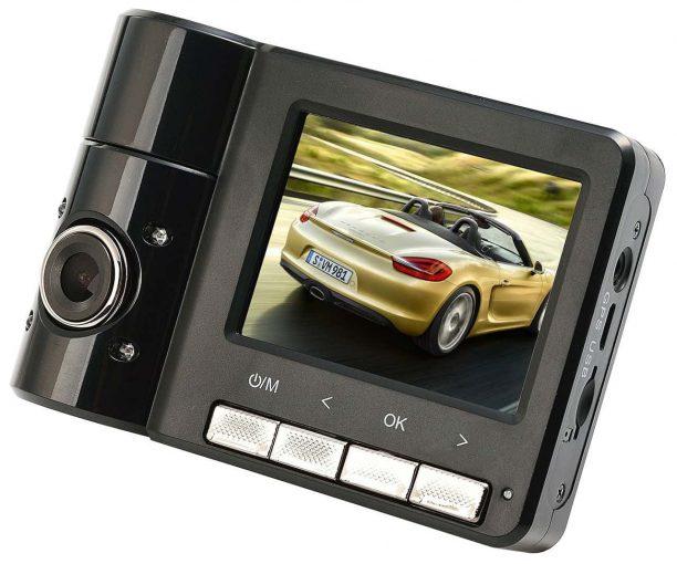 Powpro Pcam PP-B60 FHD 1080P GPS Dual Cameras Car Dash Cam 2.31 inch