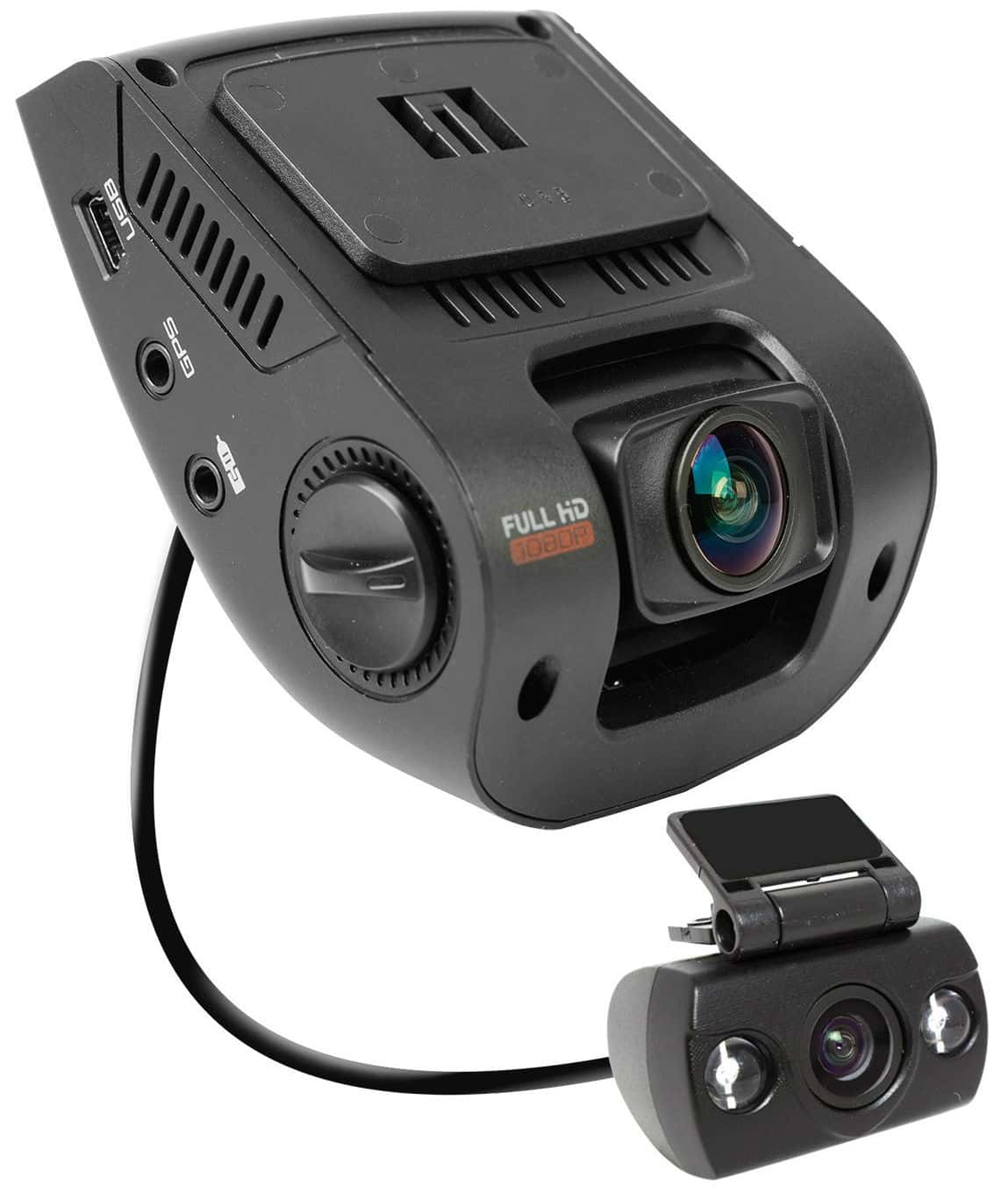 "Rexing V1P 2.4"" LCD FHD 1080p 170 Degree Wide Angle Dual Channel Dashboard Camera"