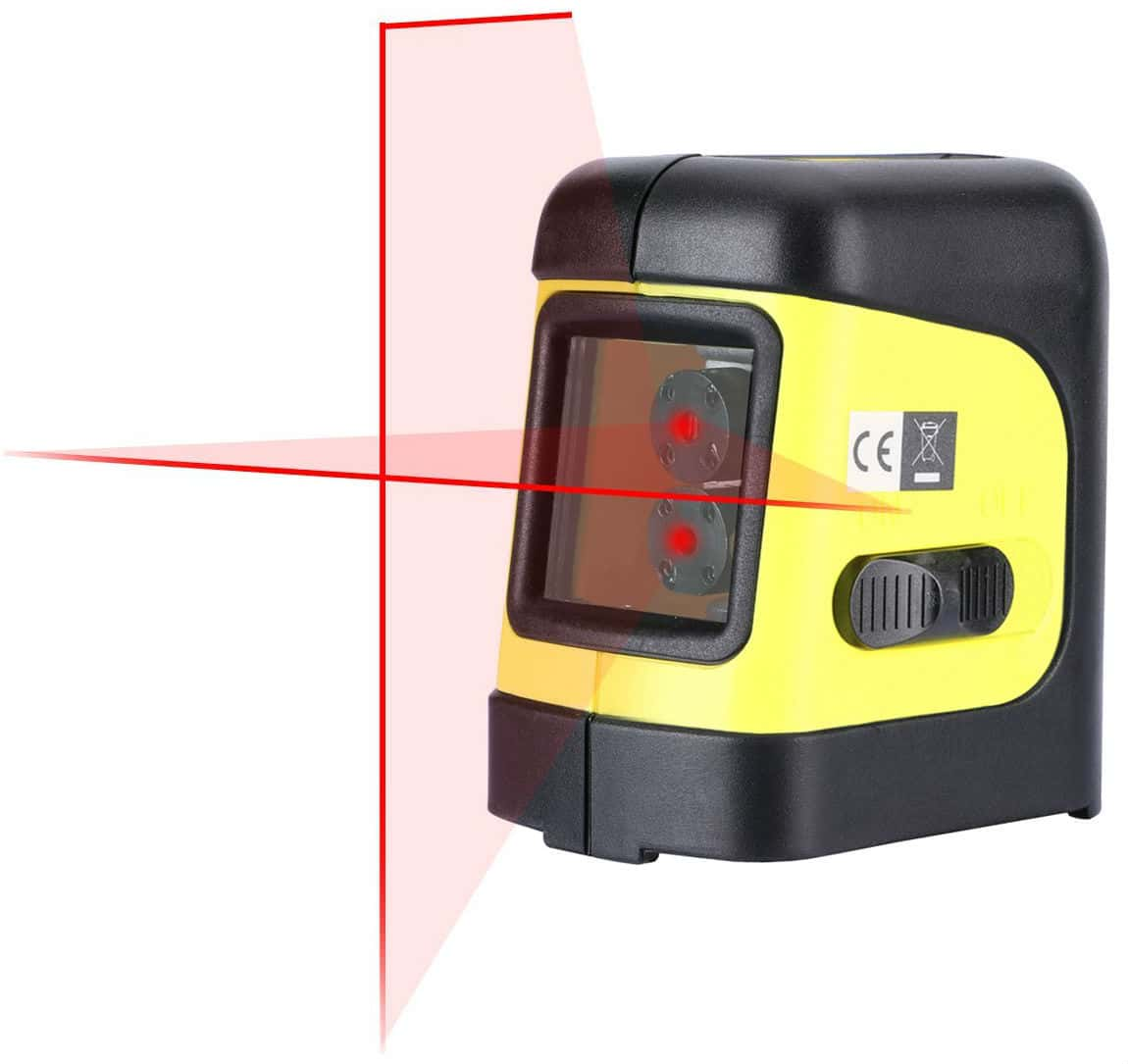 Firecore Self-Leveling Horizontal/Vertical Cross-Line Laser Level with Magnetic Bracket